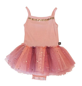 Petite Hailey Pink  Stappy Onesie Tutu Dress
