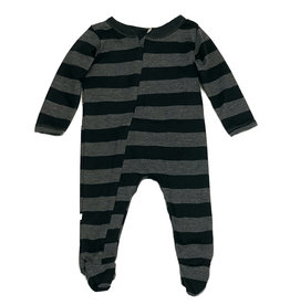 Paige Lauren Black Stripe Footie