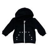 Small Change Black with Mini Stars Zip Hoodie