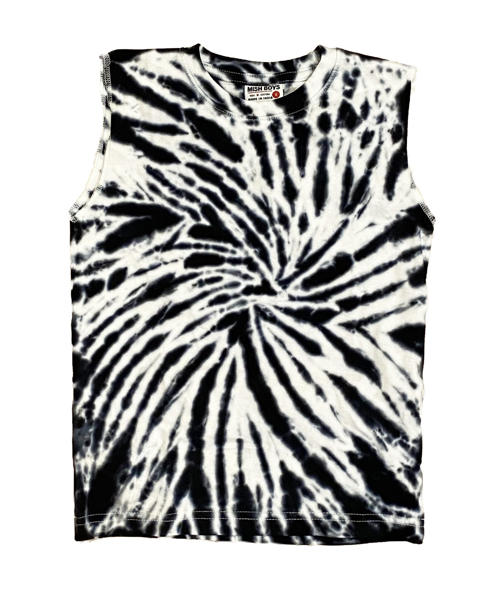 Mish Blk/Wht TD Muscle Tank Top