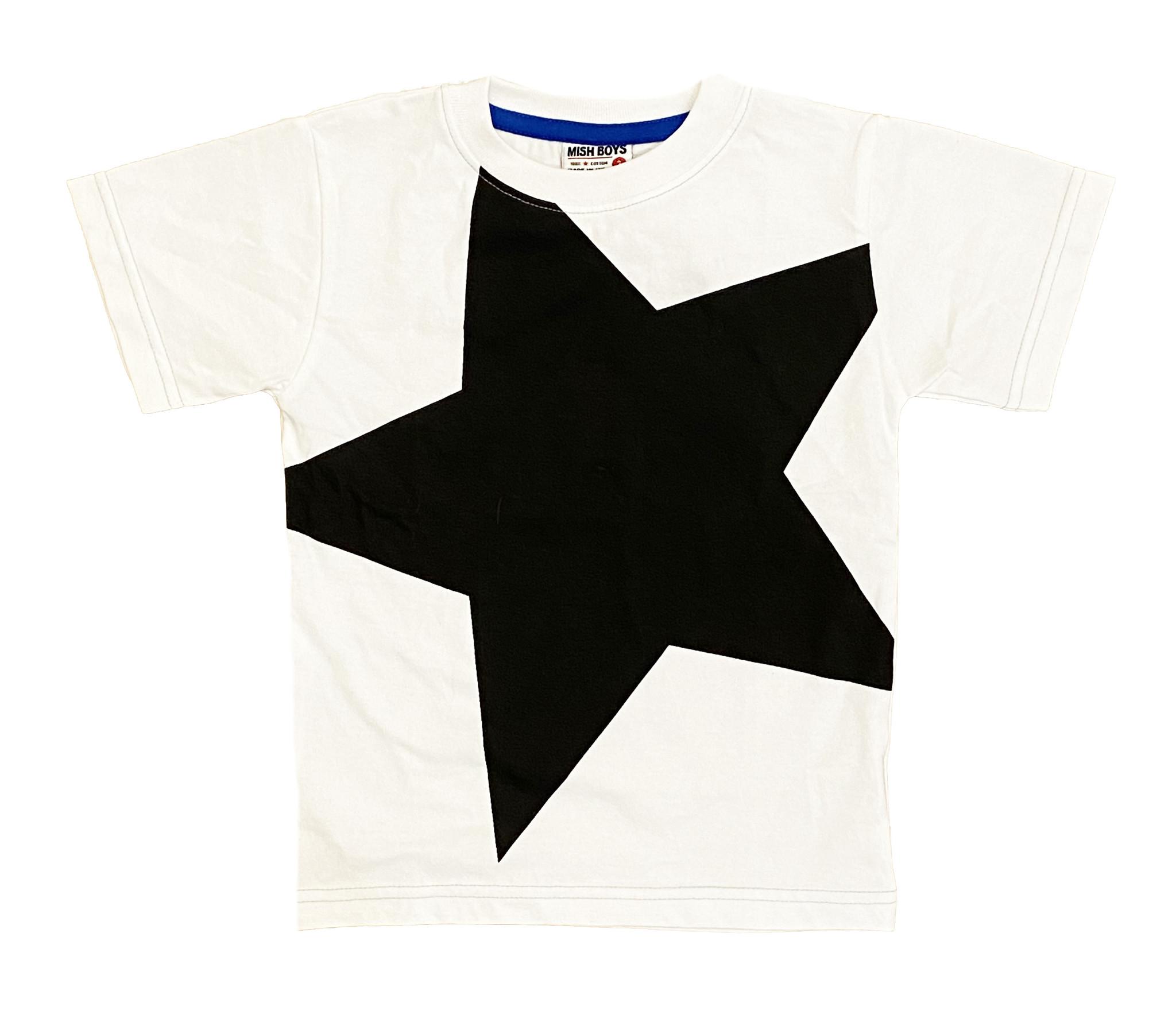 Mish Black/White Star Tee