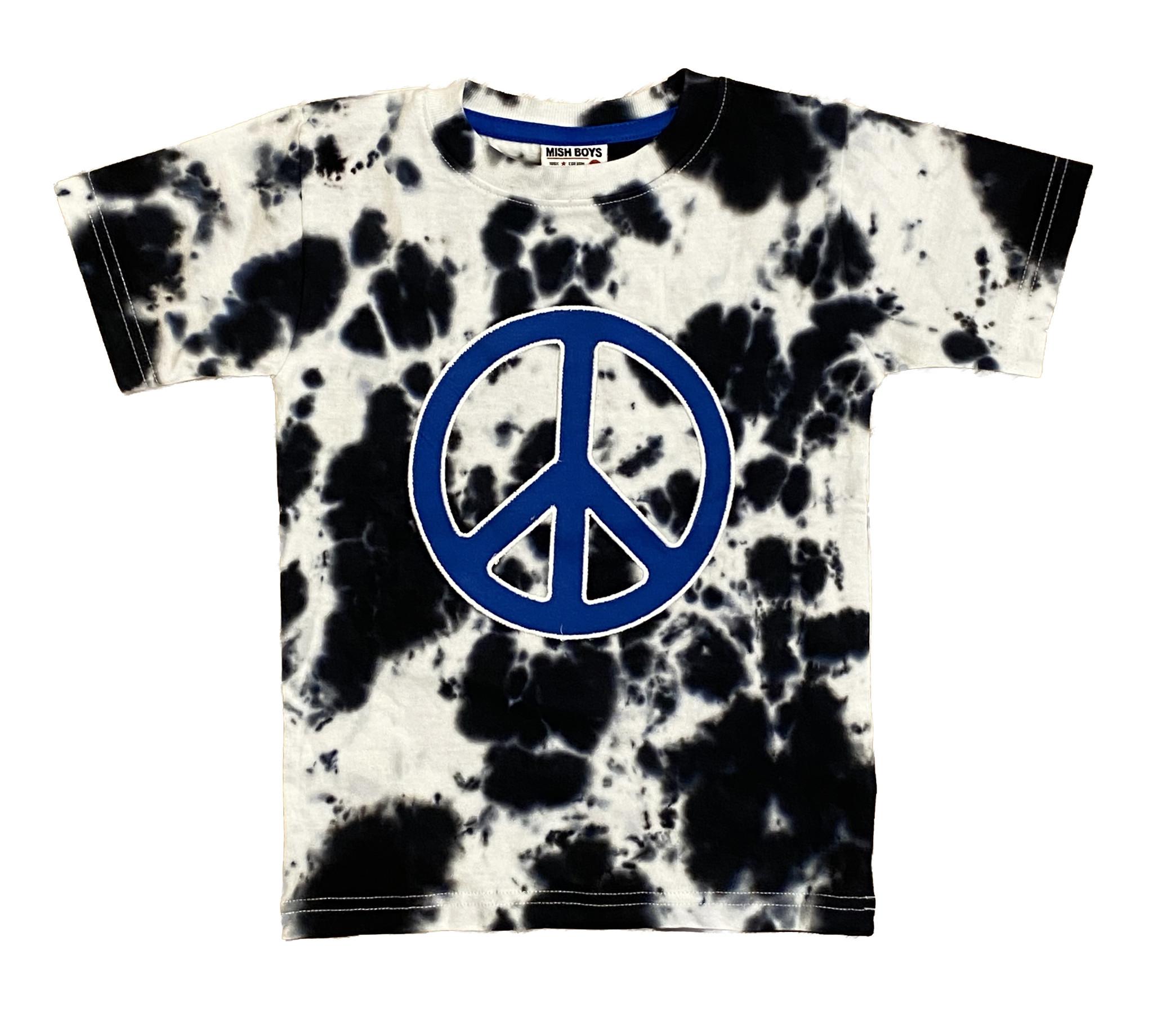 Mish Black Tie Dye Peace Tee