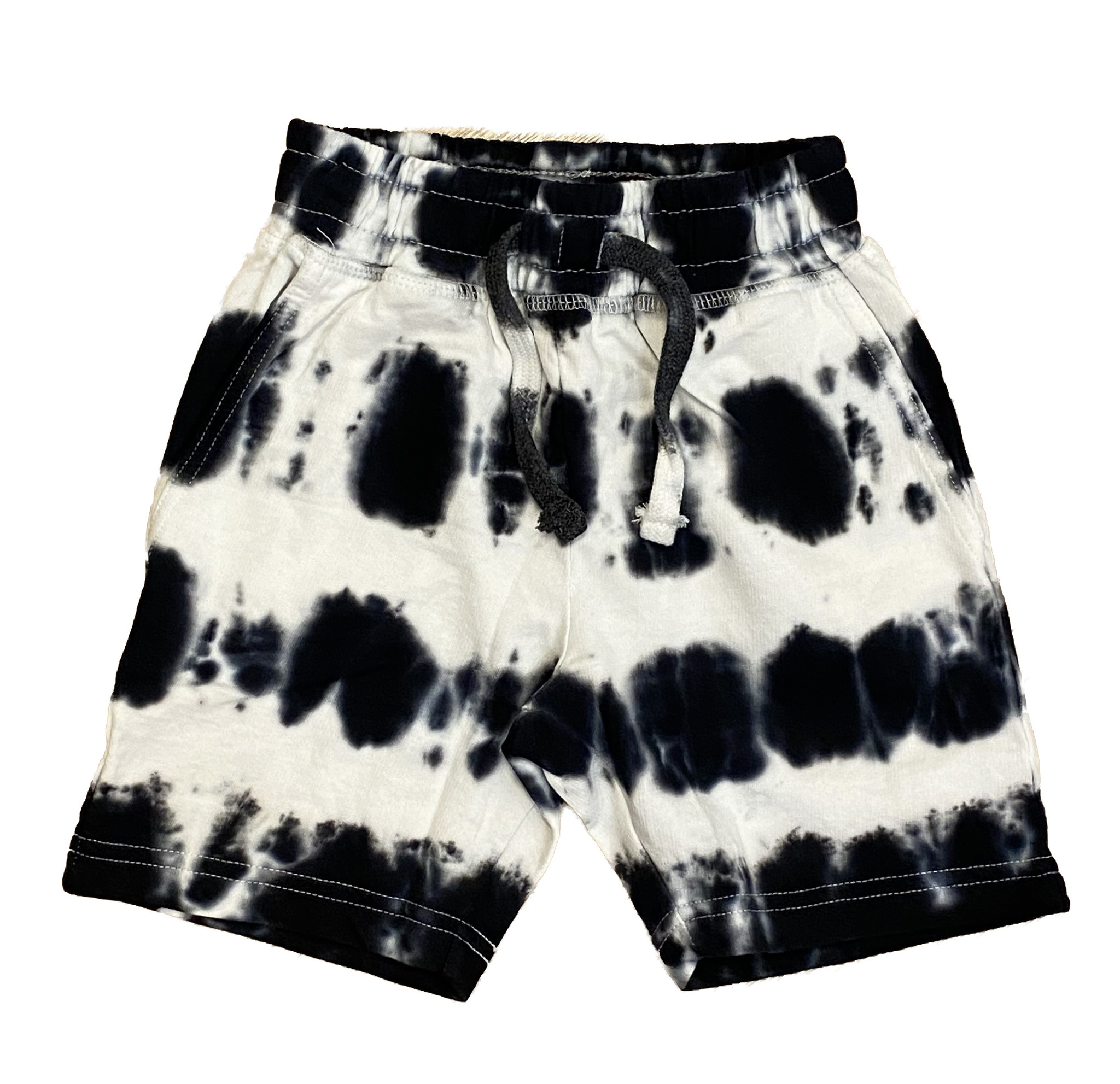 Mish Bryce Blk/Wht TD Infant Shorts