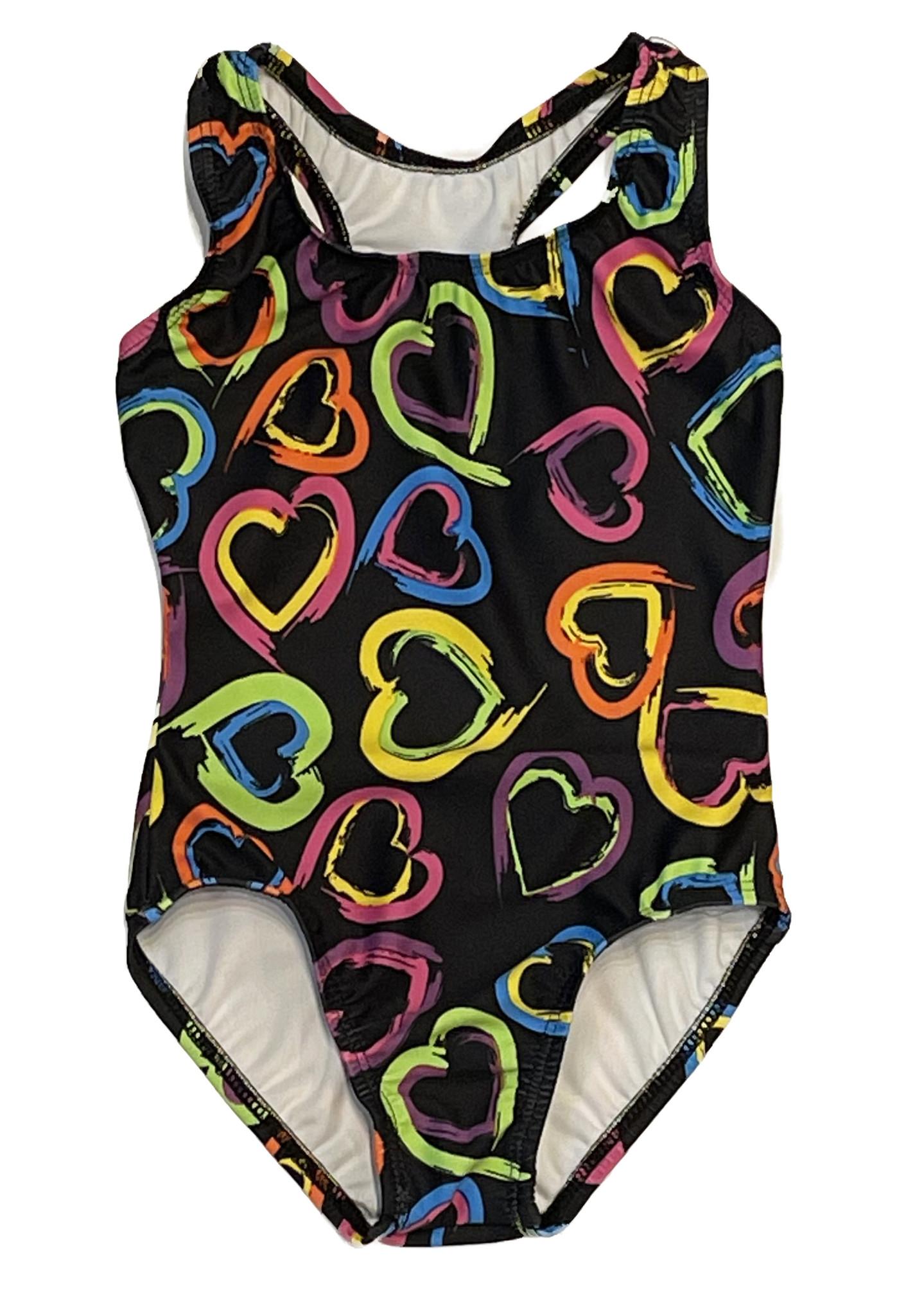 Dori Neon Hearts Swimsuit
