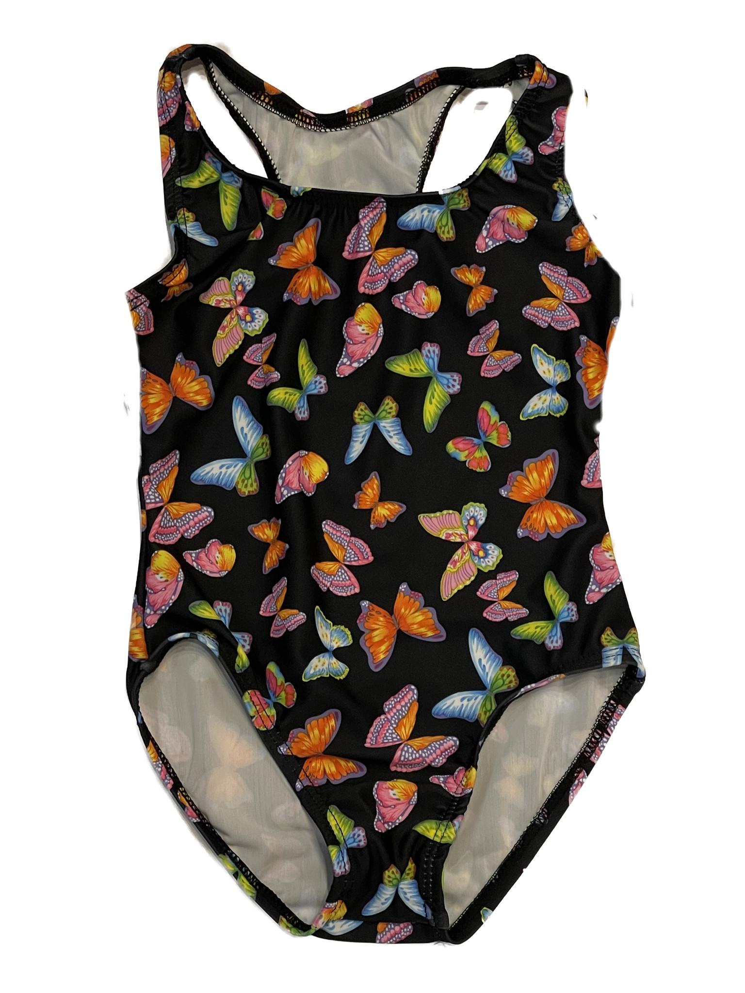 Dori Neon Butterfly Black Swimsuit