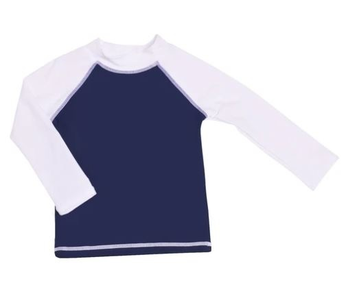 Flap Happy Navy/Wht UPF 50+ Rashguard
