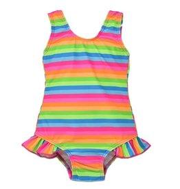Flap Happy Neon Striped Infant Swimsuit