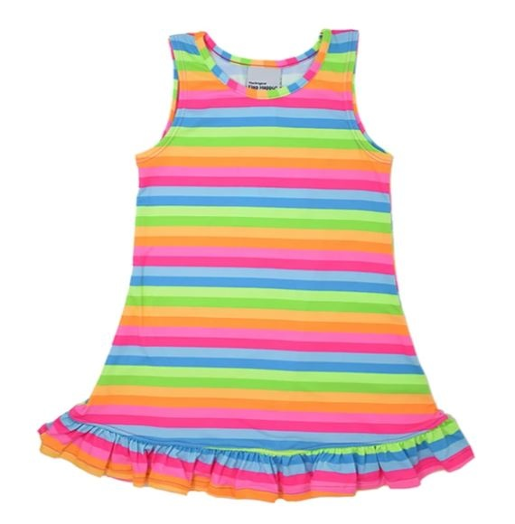 Flap Happy Neon Striped Infant Dress