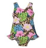 Flap Happy Cheetah Blooms Infant Swimsuit