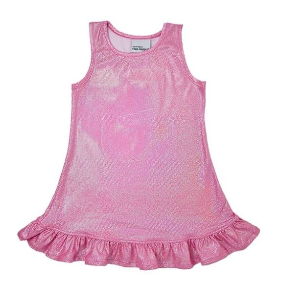 Flap Happy Sparkle Infant Ruffle Dress