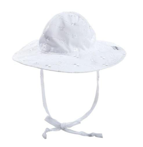 Flap Happy White Eyelit Floppy Sun Hat