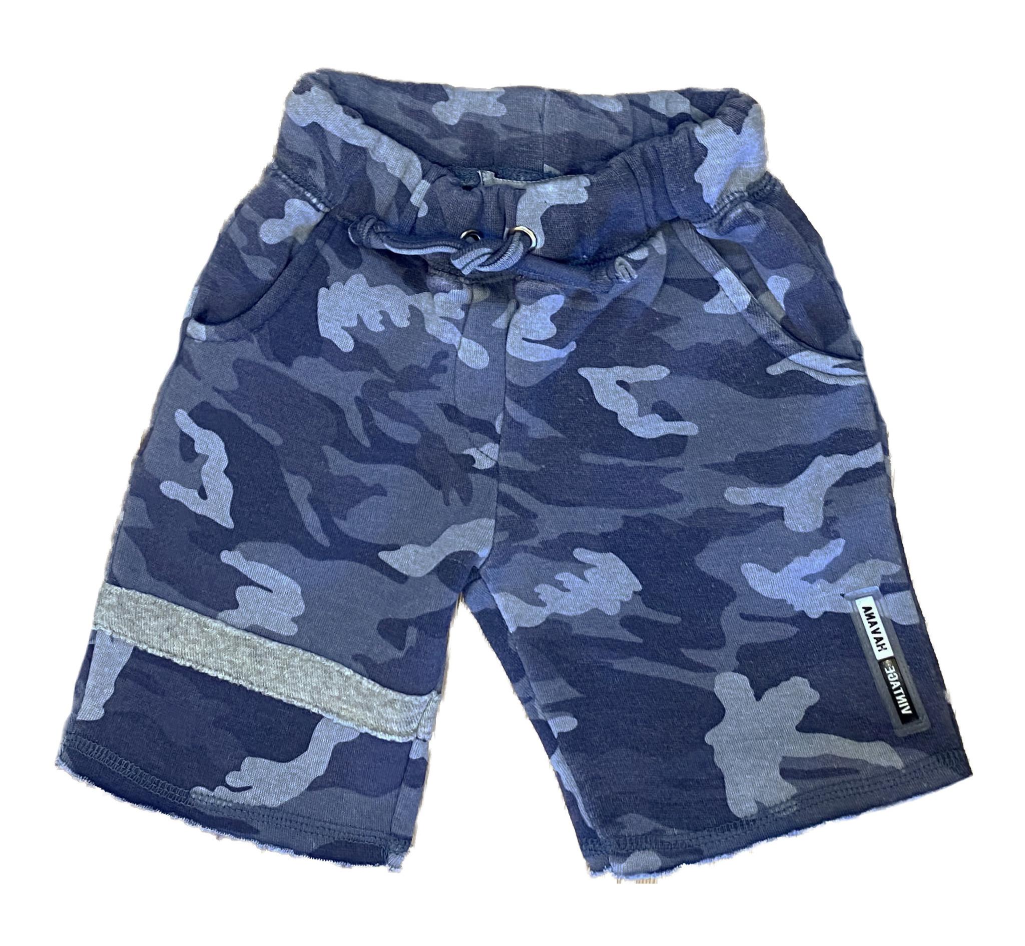Vintage Havana Boys Lt. Blue Camo Shorts