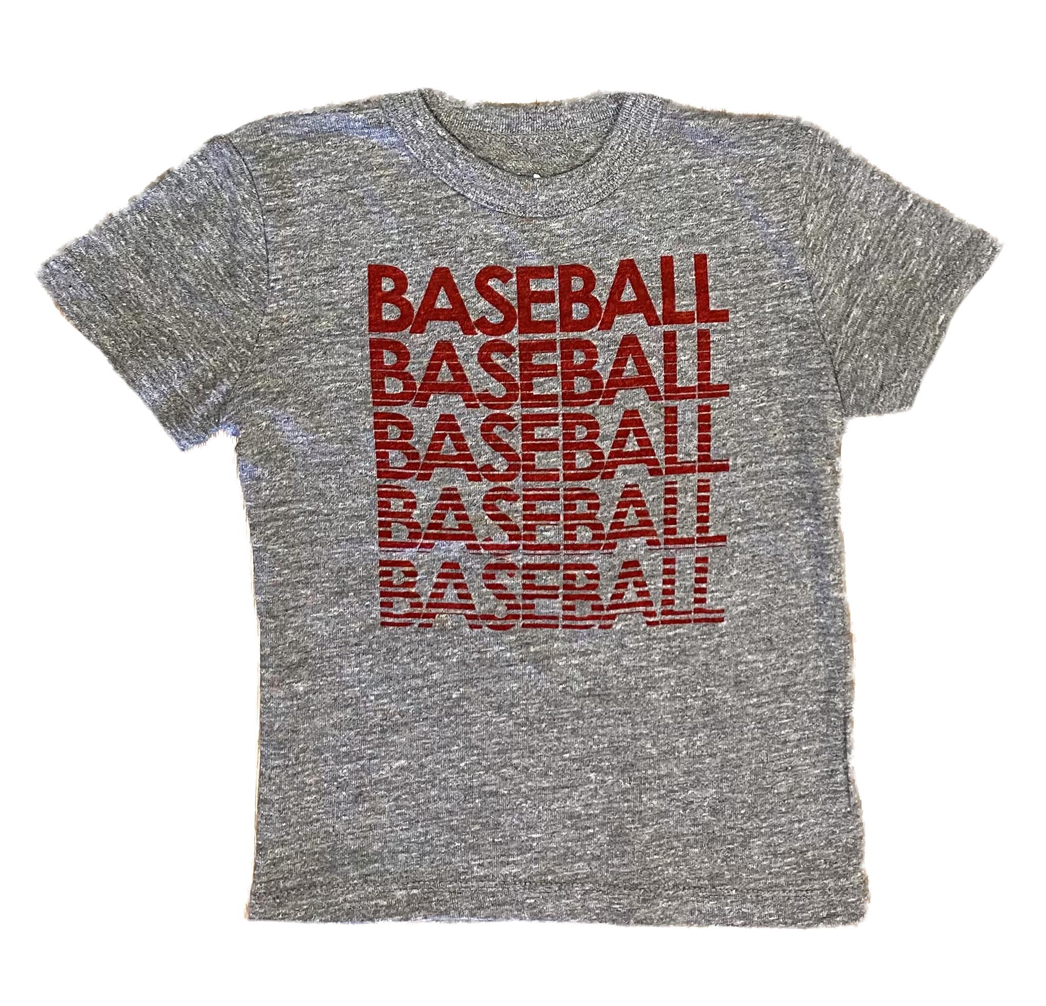 Chaser Grey Red Baseball Tee