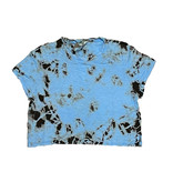 Hard Tail Neon Blue/Blk TD Cropped Tee