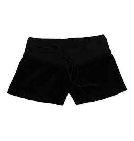 Hard Tail Low-Rise Black Terry Shorts