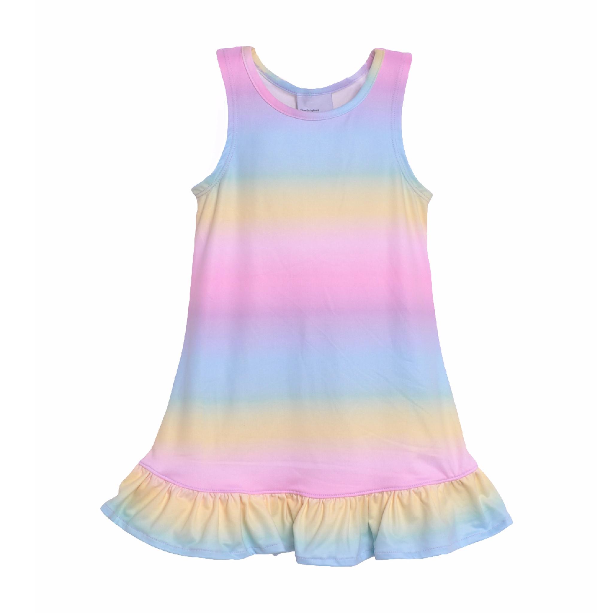 Flap Happy Rainbow Ombre Dress