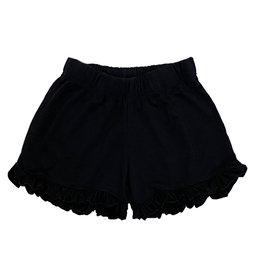 Firehouse Black Ruffle Shorts