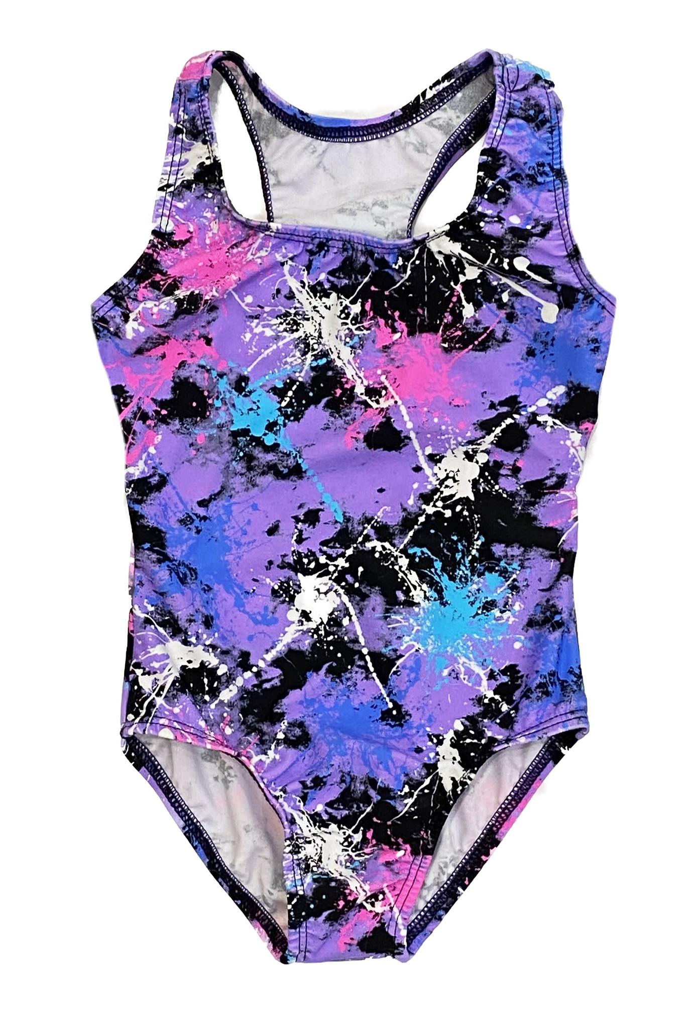 Dori Violet Multi Splatter Swimsuit