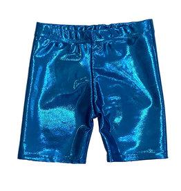 Dori Turquoise Lame Bike Shorts