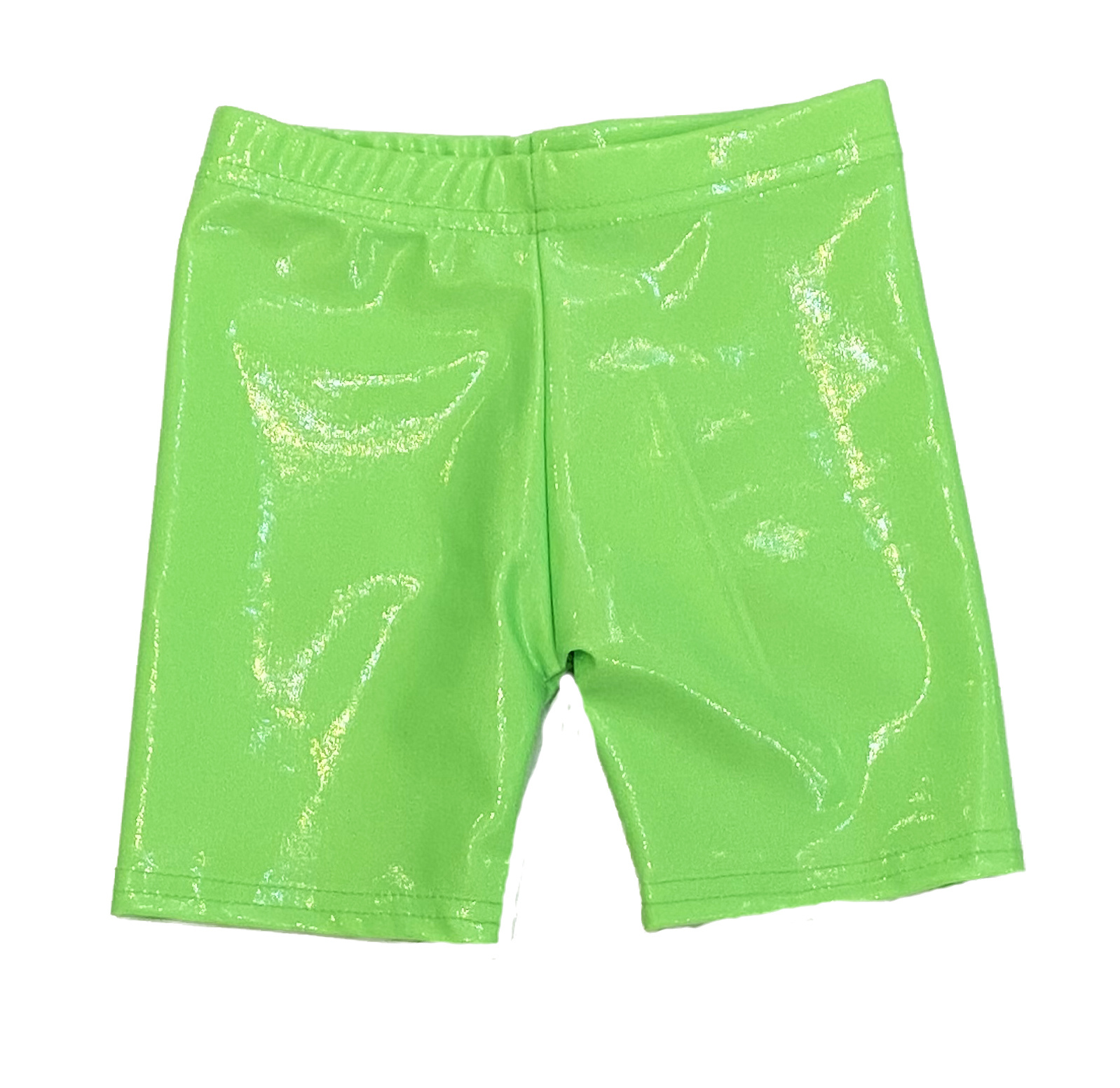 Dori Neon Green Lame Bike Shorts