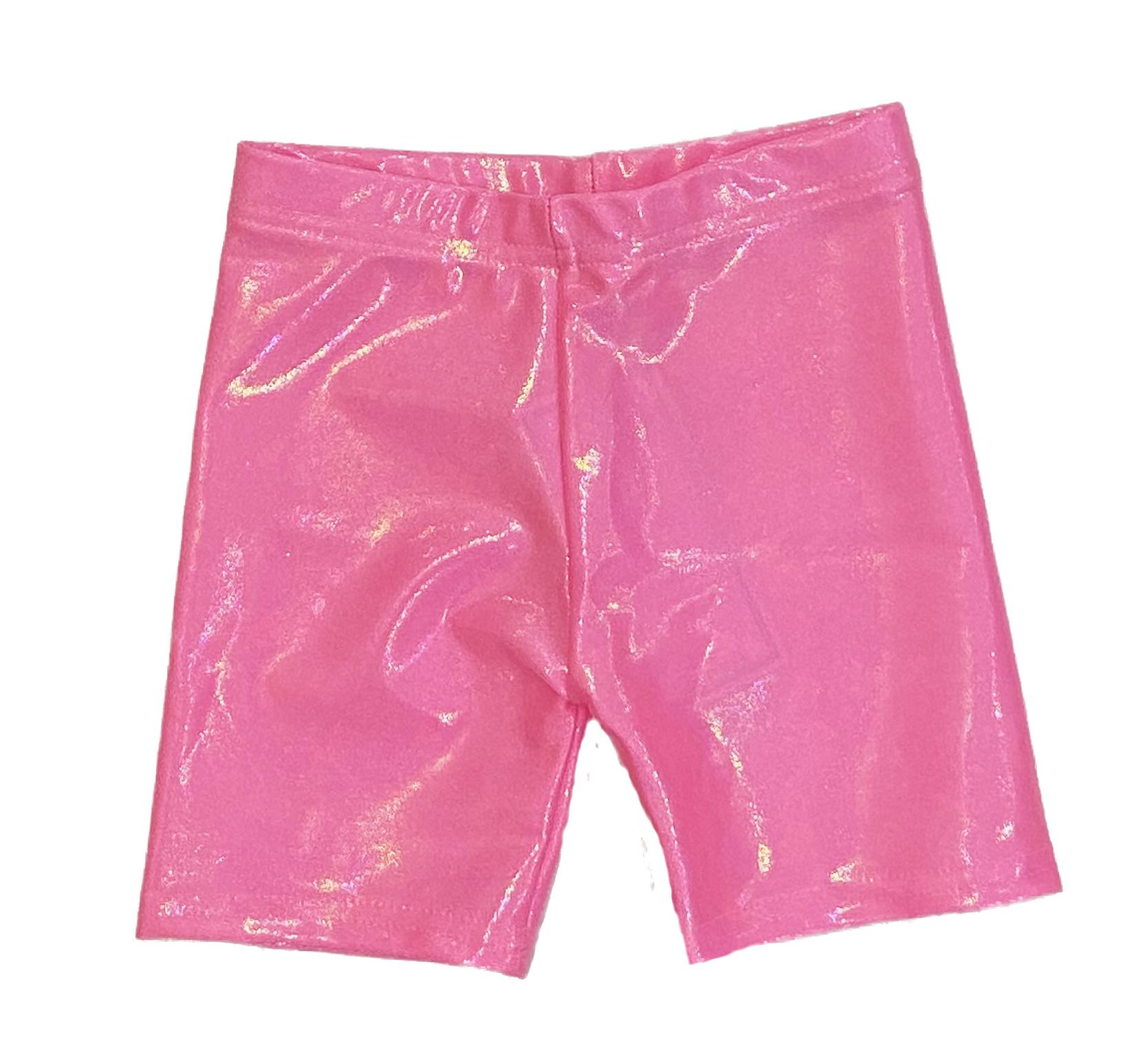 Dori Bubblegum Lame Bike Shorts