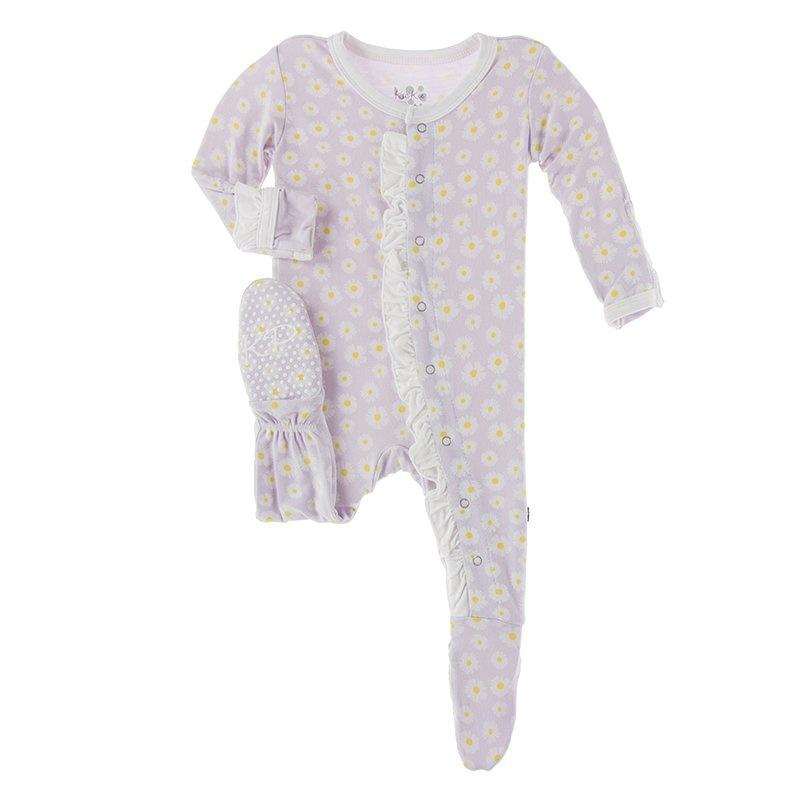 Kickee Pants Lavender Daisy Footie