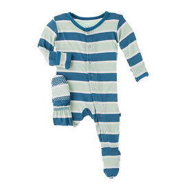 Kickee Pants Seaside Stripe Footie