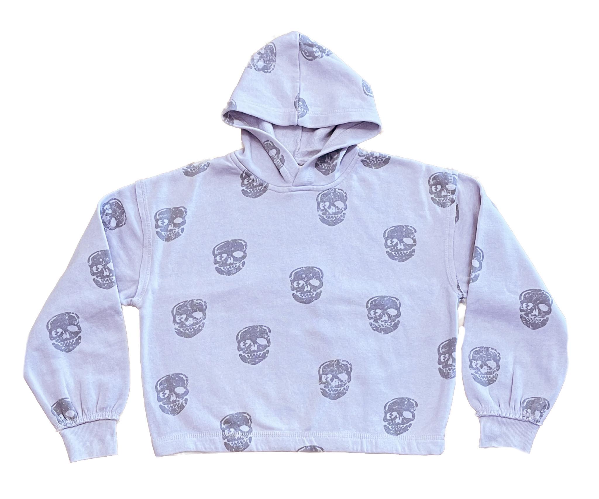 Vintage Havana Lavender Grey Skulls Hoodie