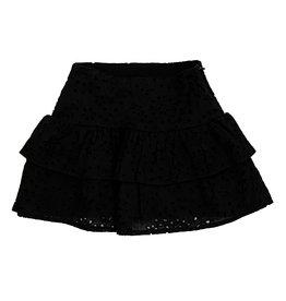 Katie J NYC Black Eyelet Skirt