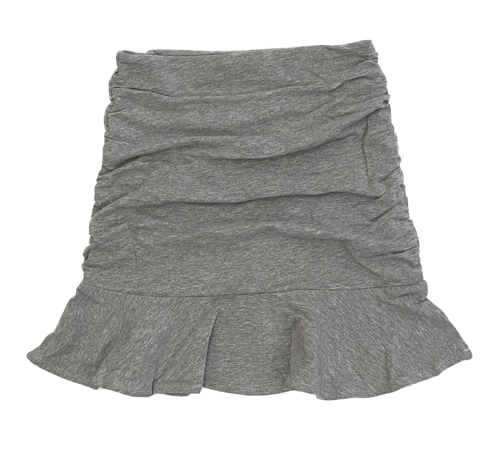 Katie J NYC Ruched Heather Grey Skirt