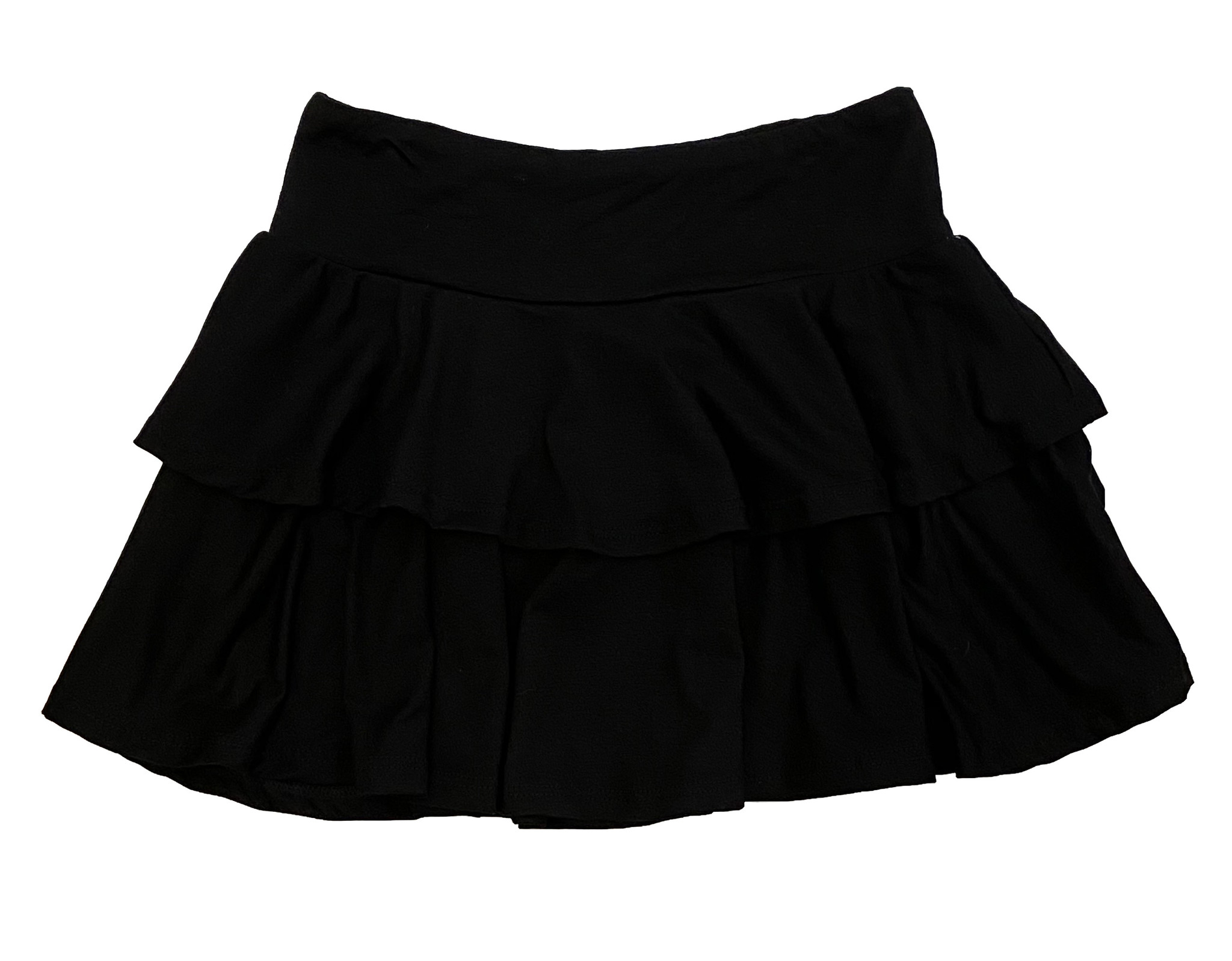 SLS Black Two Tiered Skirt