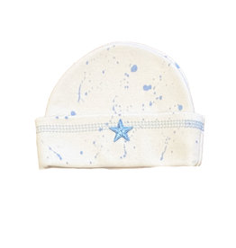 Too Sweet White/Lt Blue Splatter Hat