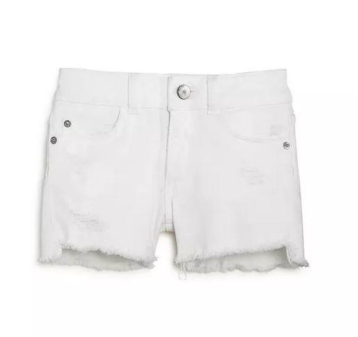 DL 1961 White Lucy Cutoff Shorts