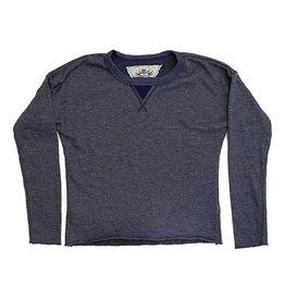 T2Love Heather Navy Crew Sweatshirt