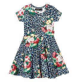 Rock Your Baby Blue Leopard Floral Dress
