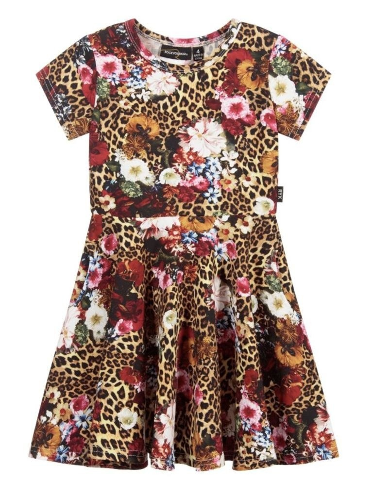 Rock Your Baby Leopard Floral Dress