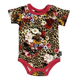 Rock Your Baby Leopard Floral Onesie