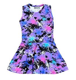 Dori Violet Multi Splatter Sleeveless Dress