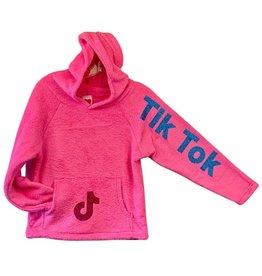 Love & Kisses Tik Tok Pink Plush Pullover