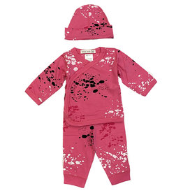 Little Mish Pink Splatter 3 pc Set