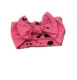 Little Mish Pink Splatter Headband