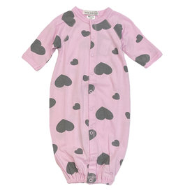 Little Mish Pink/Grey Hearts Converter Gown