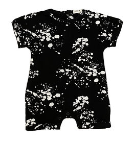 Little Mish Black Splatter Shortall