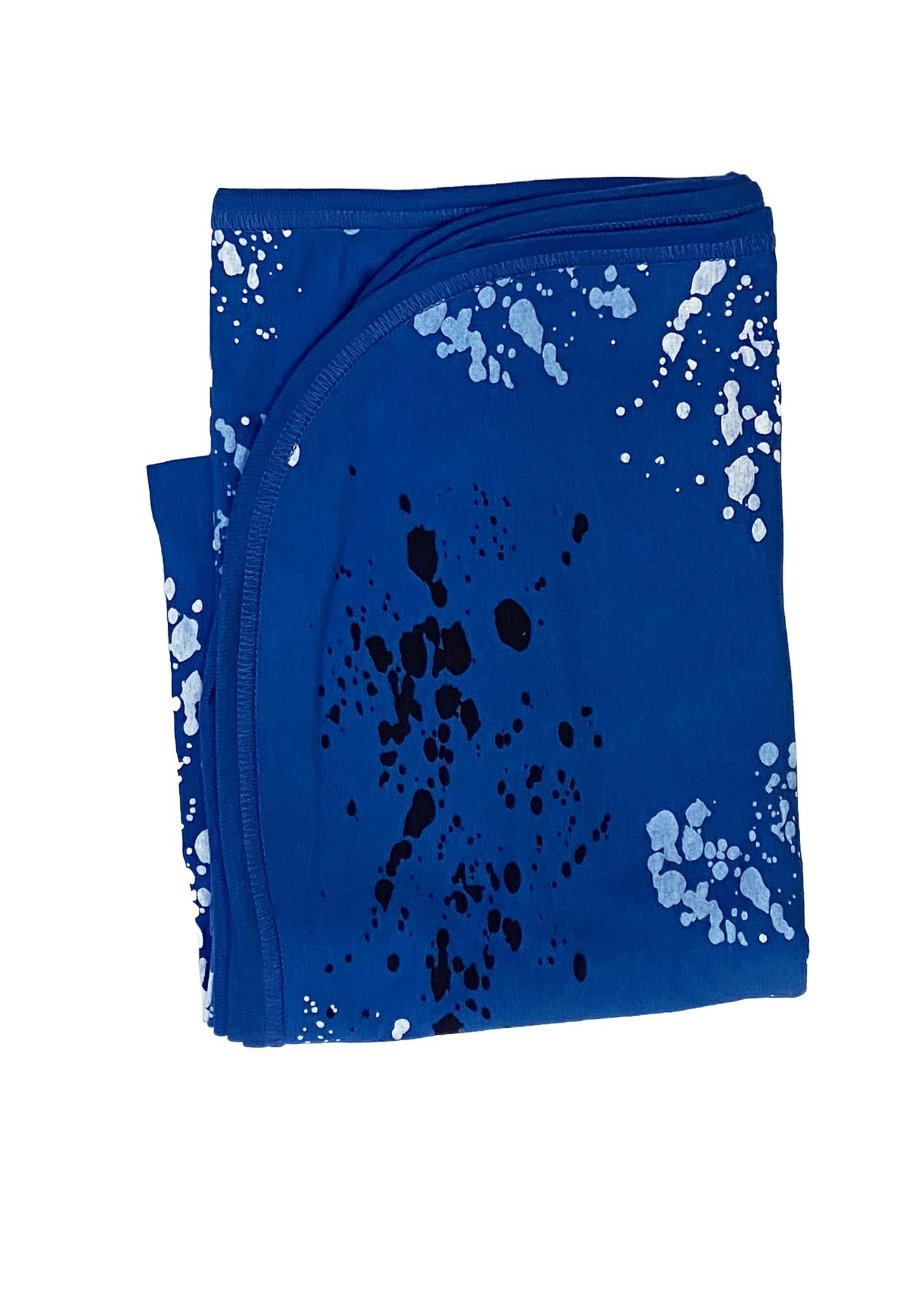 Little Mish Cobalt Splatter Blanket