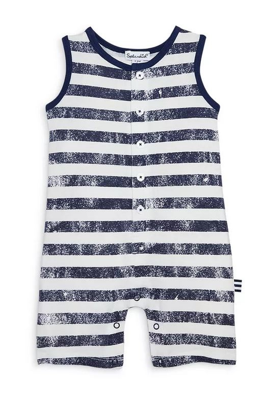 Splendid Navy Slash Stripe Romper