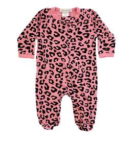 Little Mish Pink Cheetah Footie