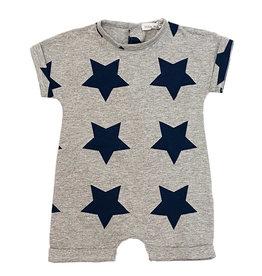Little Mish Grey/Navy Lg Star Shortall