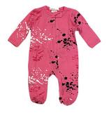 Little Mish Pink Splatter Footie