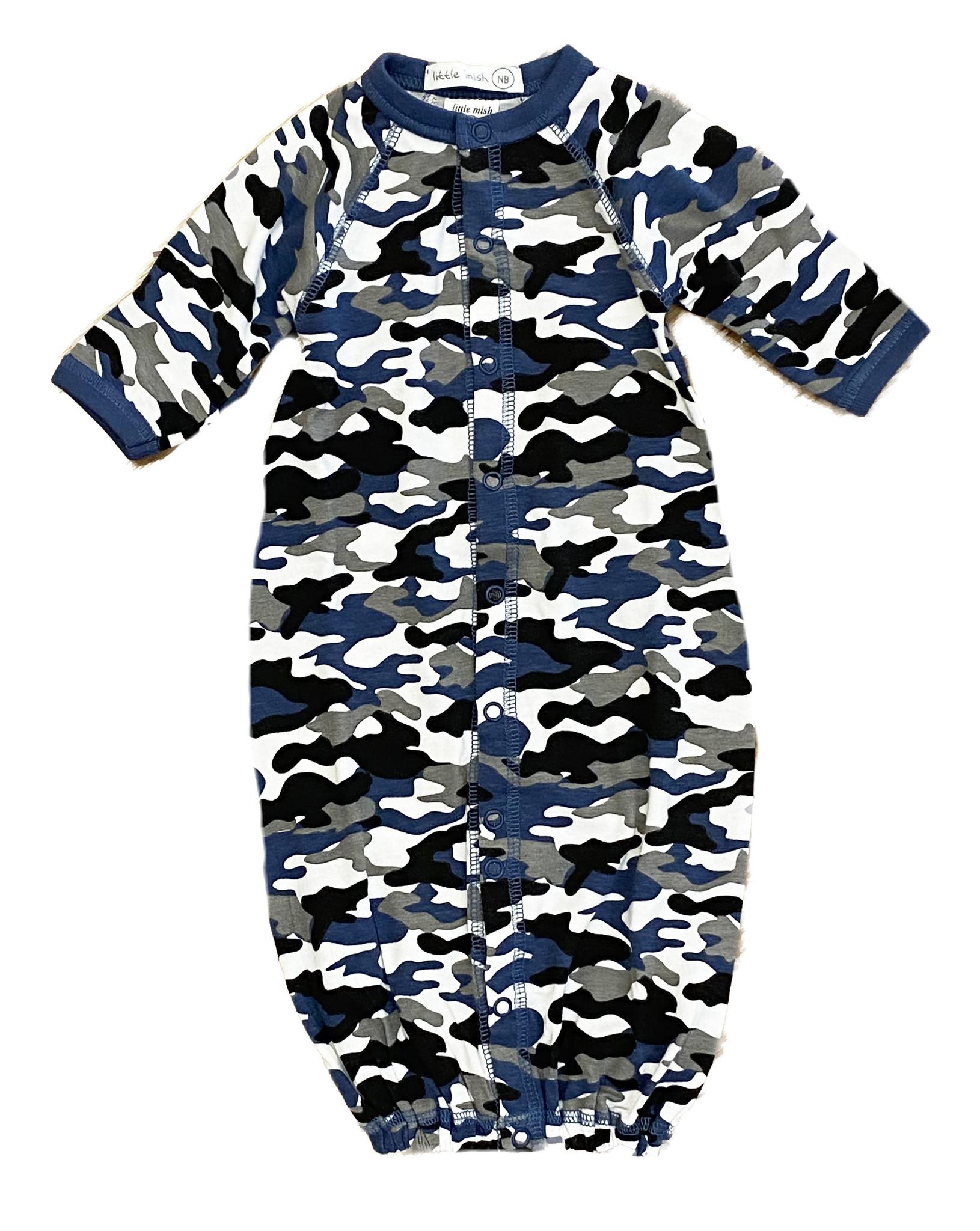 Little Mish Denim Camo Converter Gown