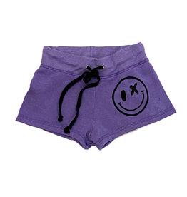 Love Junkie Violet Smiley Shorts